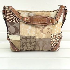 Coach Carly Signature Patchwork Bag Style #B0793